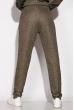 Спортивный костюм с капюшоном 11P487 серый / золотой