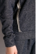 Спортивный костюм с капюшоном 11P487 синий / меланж