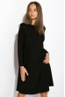 Платье-туника с круглым вырезом 317F054 черный