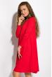 Платье-туника с круглым вырезом 317F054 малиновый