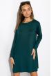 Платье-туника с круглым вырезом 317F054 сизый