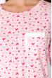 Сорочка женская 107P131-3 розово-молочный / принт