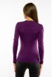 Пуловер женский с V-образным вырезом 618F090 фиолетовый