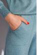 Костюм женский 120PSKL022 вязанный лазурно-серый