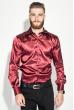 Рубашка мужская шелковая 50PD0090 бордовый