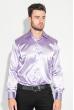 Рубашка мужская шелковая 50PD0090 светло-фиолетовый