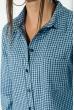 Туника женская, удлиненная спинка 64PD2871-3 сине-голубой