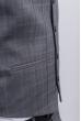 Жилет мужской классический, серая клетка №276F025 серый