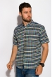 Рубашка в стиле Casual 511F033 сине-зеленый