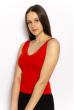 Женский топ с V-образным вырезом 630F003 красный