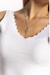 Женский топ с V-образным вырезом 630F003 молочный