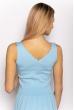 Женский топ с V-образным вырезом 630F003 голубой