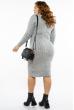 Платье трикотажное  615F2030 серый