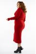 Платье трикотажное  615F2030 красный
