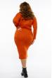Платье трикотажное  615F2030 оранжевый