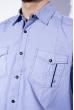 Рубашка в мелкую полоску 199P0687 голубо-белый