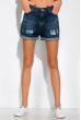 Модные джинсовы шорты 162P015 синяя варенка