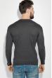 Свитер мужской с галочками на груди 48P3258 темно-серый