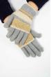 Перчатки  202P008 серо-бежевый