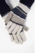 Перчатки  202P008 сине-серый