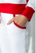 Костюм женский со змейкой на спине  70PD5032 бело-красный