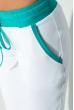 Костюм женский со змейкой на спине  70PD5032 бело-бирюзовый
