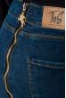 Джинсы женские с молнией сзади 282F009 синий