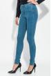 Джинсы женские с молнией сзади 282F009 светло-синий
