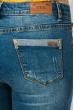 Джинсы женские потертые, зауженные 923K002 светло-синий