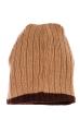 Шапка мужская теплая 254V001 бежево-коричневый