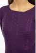 Свитер женский однотонный 85F202 фиолетовый