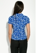 Блузка женская с пуговицей впереди 81P0030 синий , яблоки
