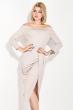 Платье женское, коктельное с люрексом 72PD216 пудровый