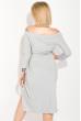 Платье женское, коктельное с люрексом 72PD216 серебро