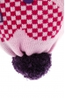 Шапка детская (для девочки) на завязках 65PG15-048 junior розово-сиреневый