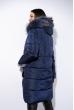 Куртка женская с меховыми карманами 120PAM2089 темно-синий