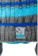 Шапка детская (для мальчика) на завязках 65PB0020 junior серо-бирюзовый