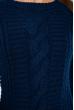 Свитер с крупной вязкой 120PNA19309 темно-синий