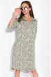 Платье-рубашка с цветочными мотивами 103P482-1 светло-оливковый / принт