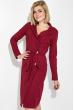 Платье женское на запах 64PD345-1 бордо
