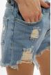 Джинсовые женские шорты 208P001 голубой