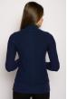 Свитер женский 118P222 воротник гольф темно-синий