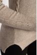 Свитер женский 118P222 воротник гольф бежево-серый