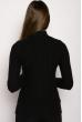 Свитер женский 118P222 воротник гольф черный