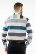 Рубашка в крупную полоску 11P393 молочно-мятный комбинация