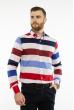 Рубашка в крупную полоску 11P393 бело-красный комбинация