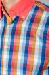 Рубашка мужская с однотонным воротником 50P009 кораллово-синий