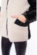 Куртка женская 120PSKL6245 черно-бежевый