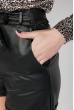 Шорты женские кожаные 64PD329 черный
