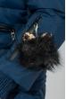 Куртка женская «Трансформер» с контрастным мехом 315V001-1 синий